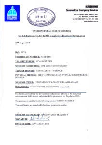 Health certificate093