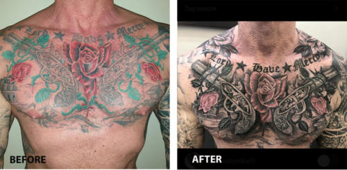 Mike - Guns 'n Roses chest tattoo reworked