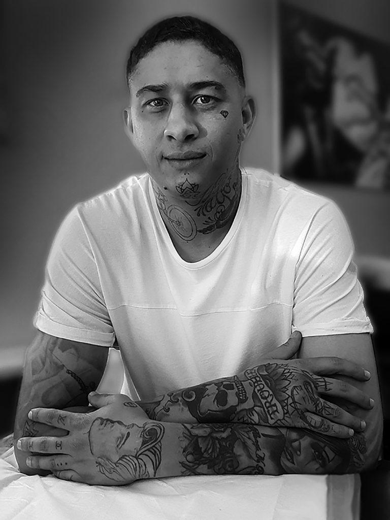Jazz Niemack, tattoo artist.