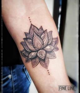 Mandala-inspired tattoo