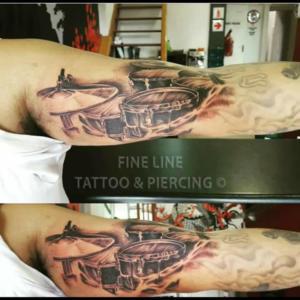 Drum set tattoo