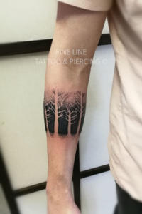 Band of trees tattoo