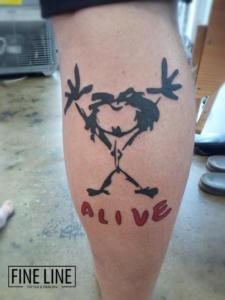 Cartoon effect tattoo