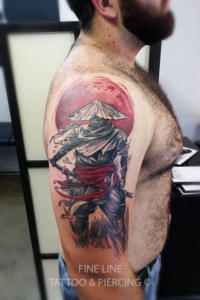 Chinese fighter tattoo