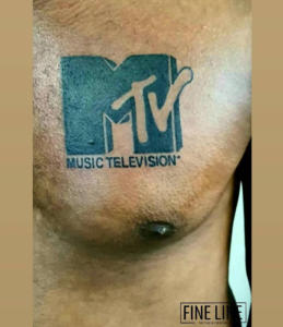 MTV logo tattoo