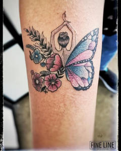 Butterfly morph tattoo