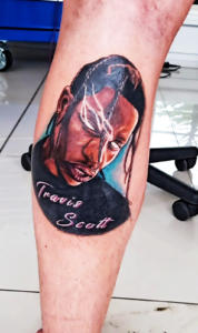 Colour realism portrait tattoo