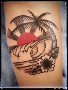 Rising sun tattoo