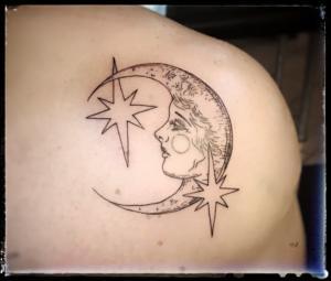 Lady Moon tattoo