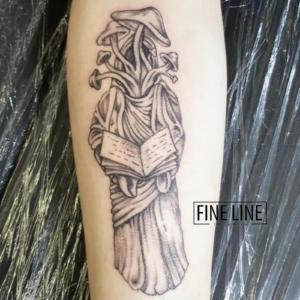 Mushroom reaper tattoo