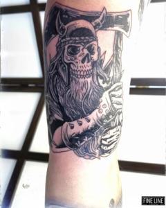 Death pirate tattoo