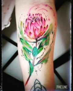 Protea tattoo